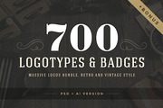 700 logos and badges bundle-Graphicriver中文最全的素材分享平台