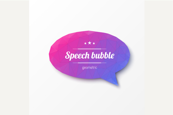 Abstract design. Speech bubble - Graphics
