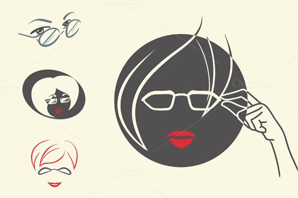 4 logos for optical salon ~ Icons on Creative Market