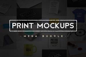 Print & Object Mockups Bundle