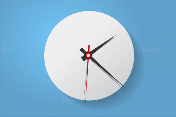 Clock face. Flat. Set up your time - Icons
