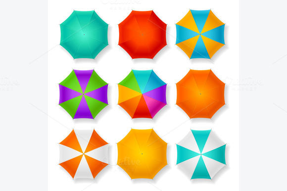 Umbrella Set. Vector - Objects