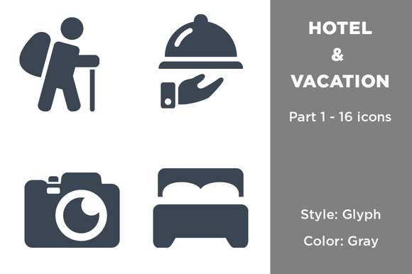 Hotel Vacation Icons Part 1