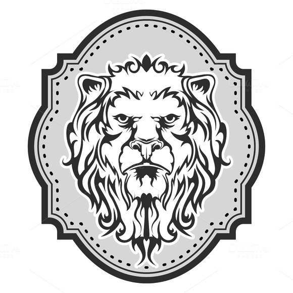 Heraldic Lion S Head For Your Design