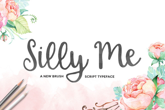 Silly Me Script Extras Script Fonts On Creative Market