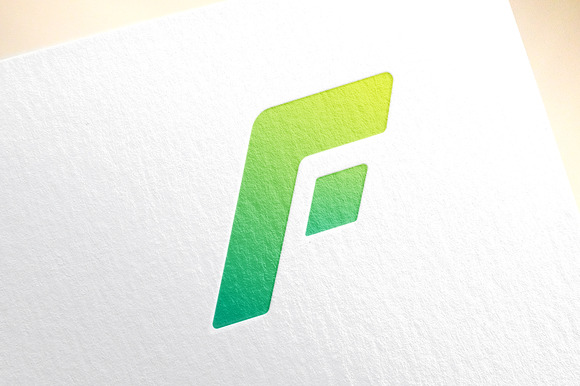 F letter logo icon vector template