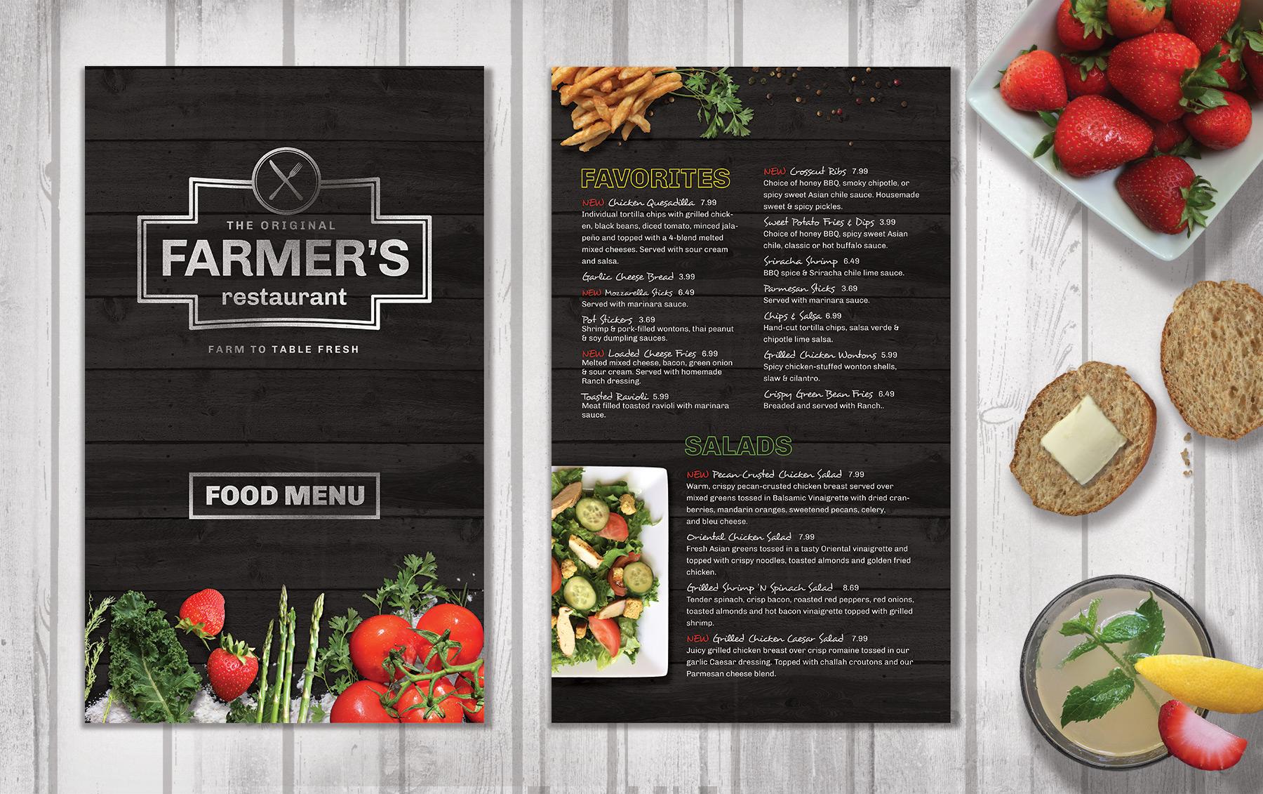restaurant food menu  fresh  brochure templates on