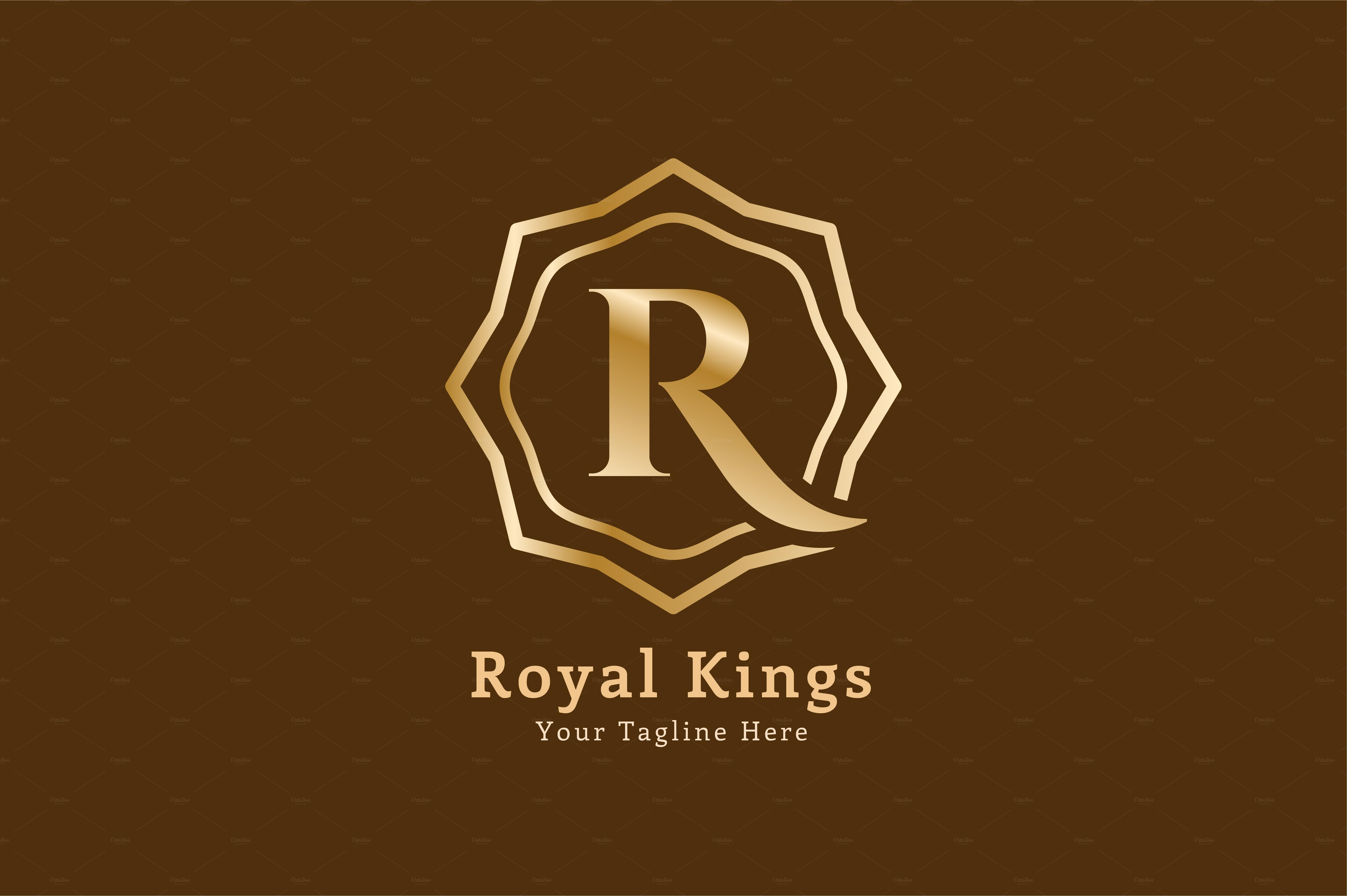 royal arabic r logo letter template logo templates on creative market. Black Bedroom Furniture Sets. Home Design Ideas