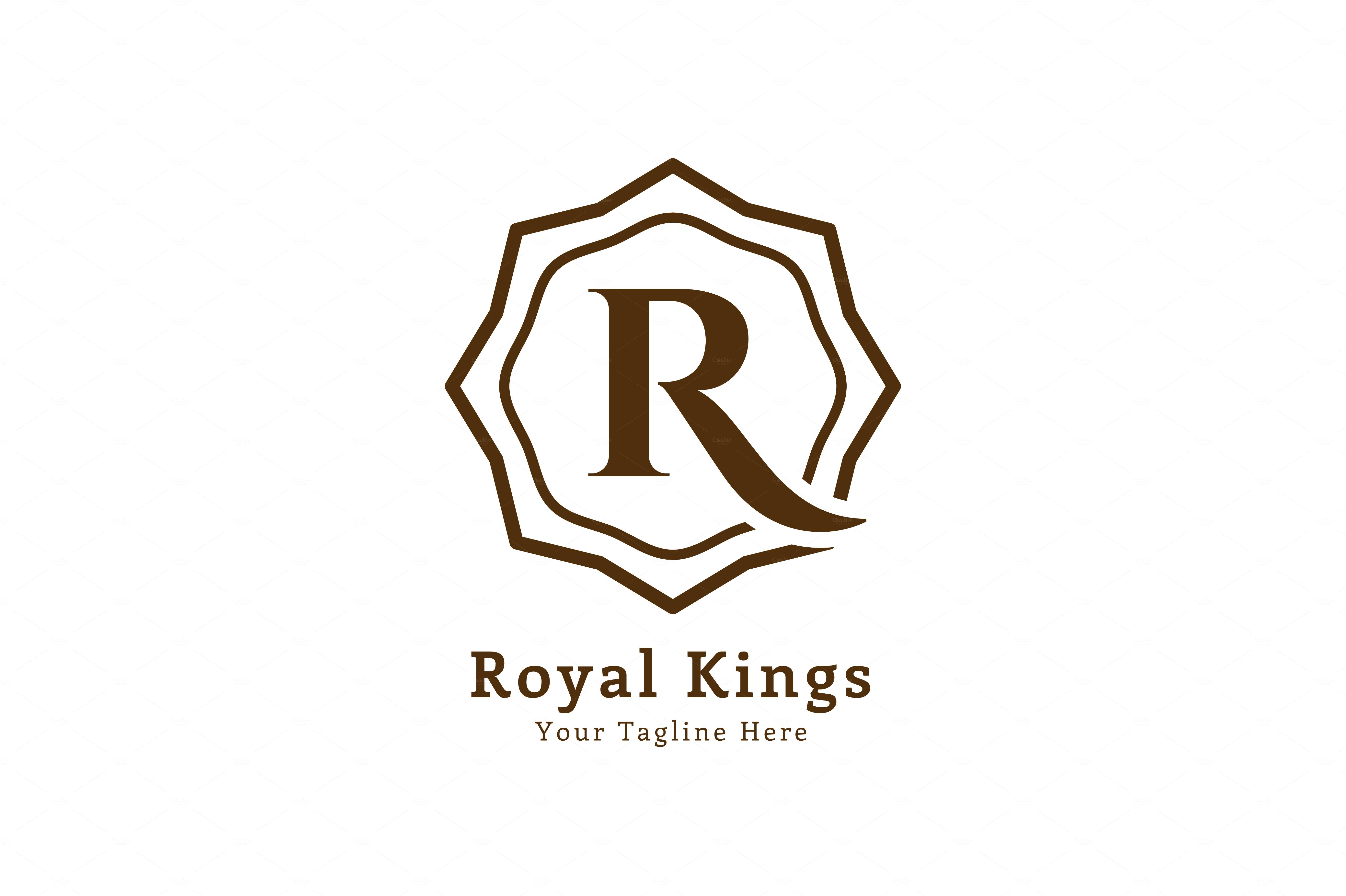 Royal Arabic R Logo Letter Template Logo Templates On