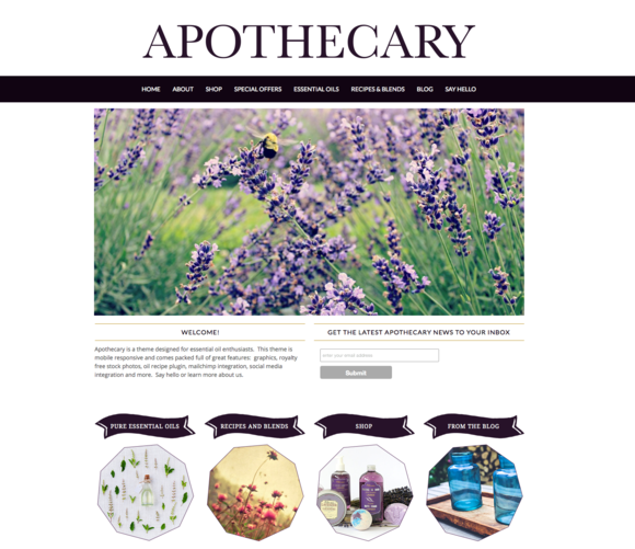 Apothecary: Essential Oil Theme