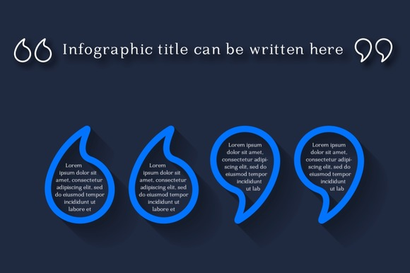 Infographic Quotation Marks