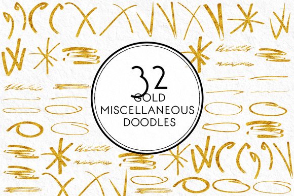 Gold Miscellaneous Doodles