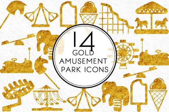 Gold Amusement Park Icons