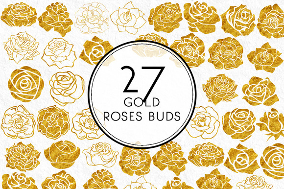 Gold Roses Buds