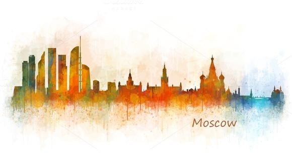 Moscow City Skyline Hq V3