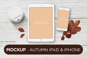 Mockup · Autumn ipad & iphone