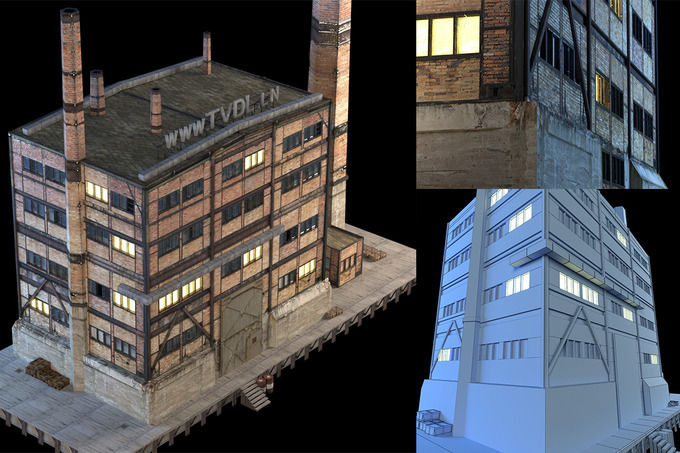 Abandon Factory Building