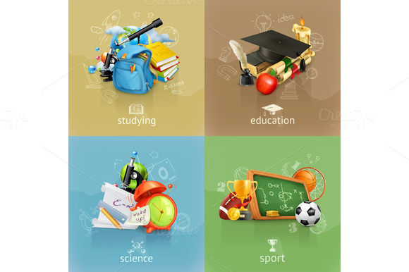 School Vector Backgrounds