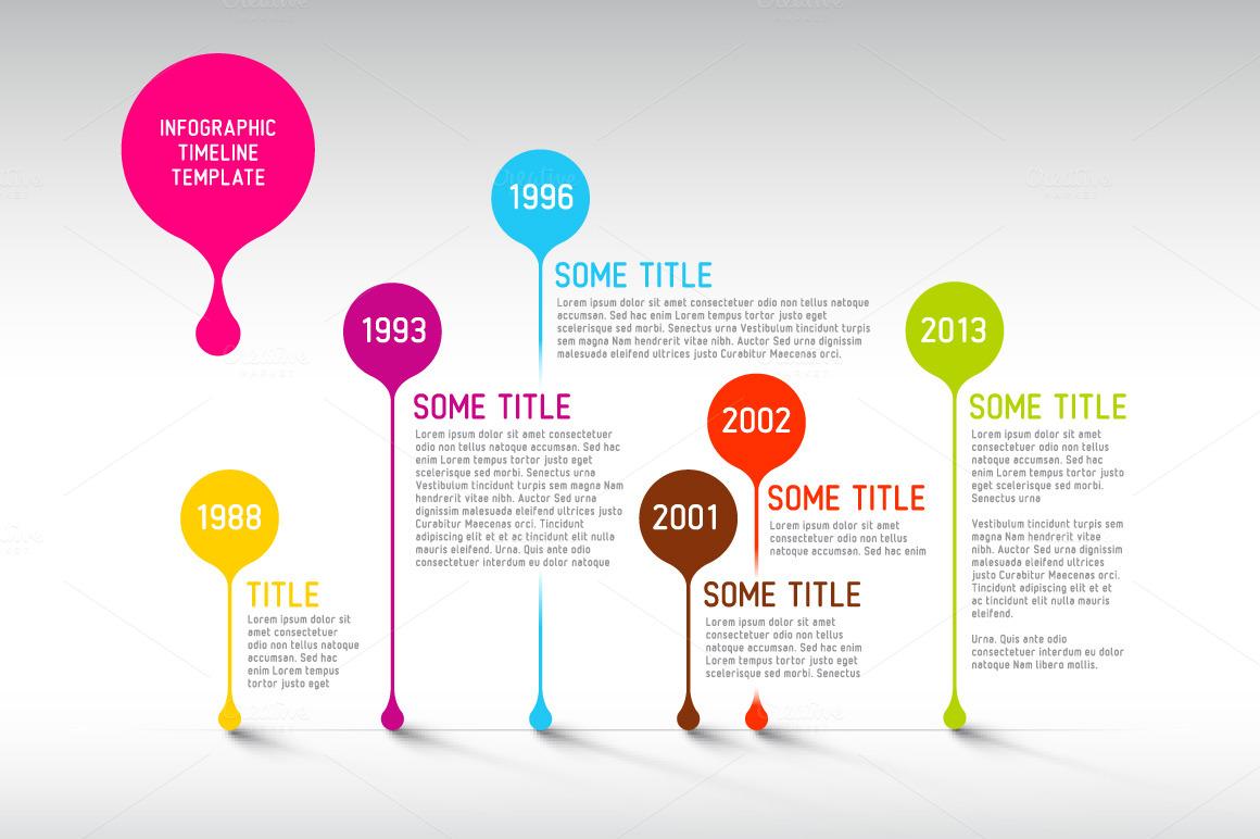 Vector Timeline Template ~ Presentation Templates on ...