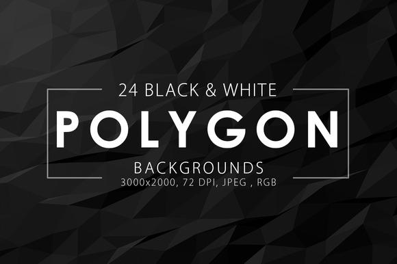 Black White Polygon Backgrounds