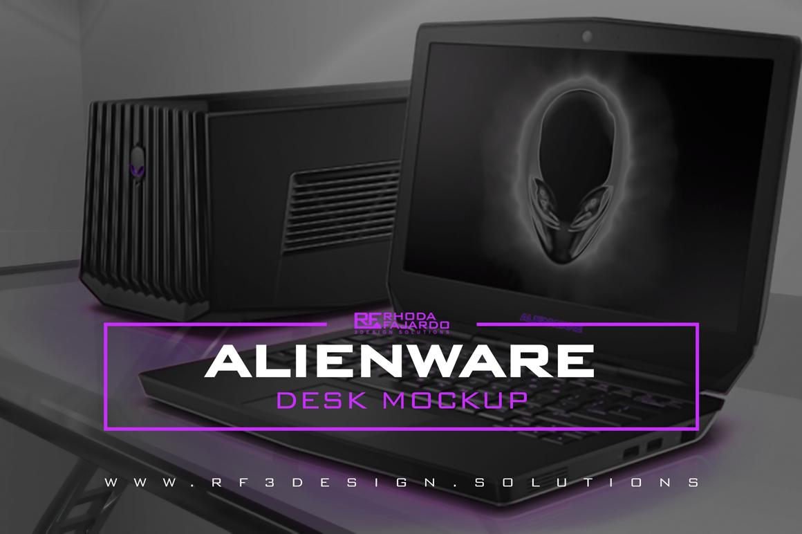Alienware: Desk Mockup