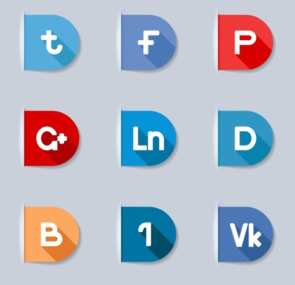 Social Network Buttons Labels