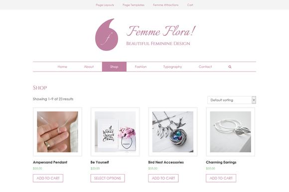 Femme Flora WordPress Feminine Theme
