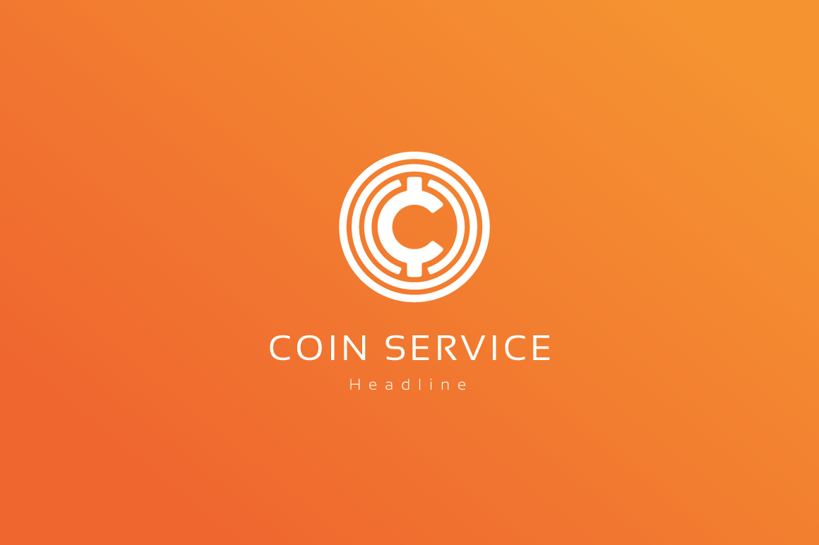 Coin service company logo. ~ Logo Templates on Creative Market