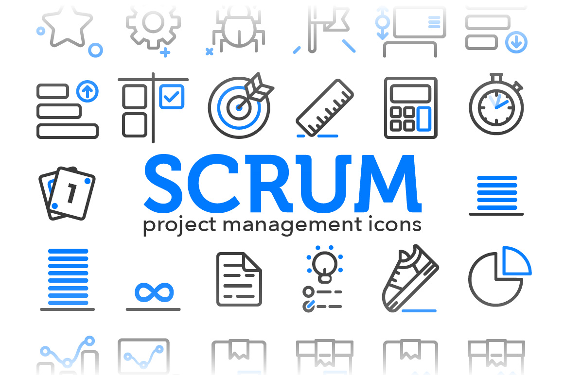 Scrum - Project Management Icons ~ Icons on Creative Market