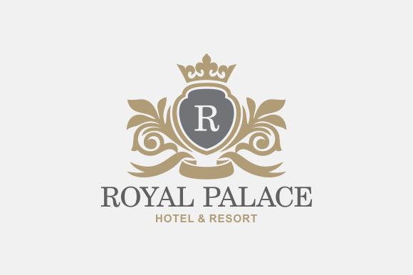 royal brand logo v5 logo templates on creative market. Black Bedroom Furniture Sets. Home Design Ideas