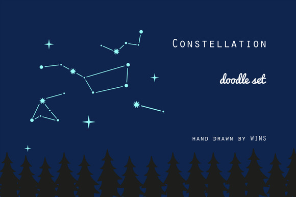 Сonstellation. Doodle set - Illustrations