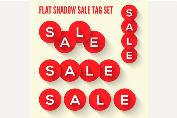 Modern Flat Sale Tags Set