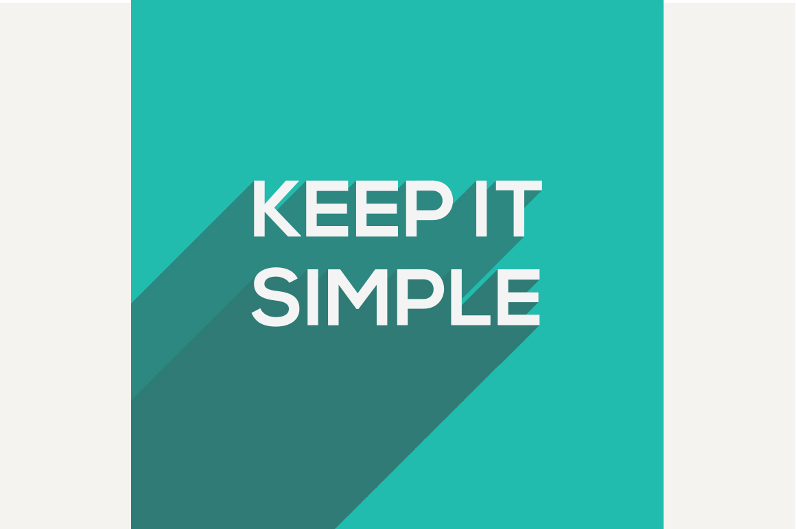 Keep It Simple modern flat typograph ~ Graphics on ...