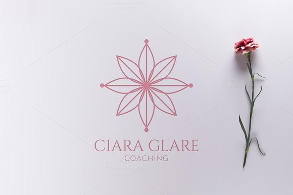 Spiritual Flower Logo Vector PNG