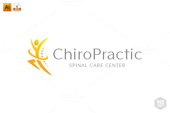 chiropractic logo template 10   logo templates on creative chiropractic logos free chiropractic logos images