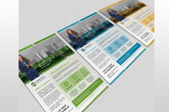 InDesign Corporate Flyer-3 color