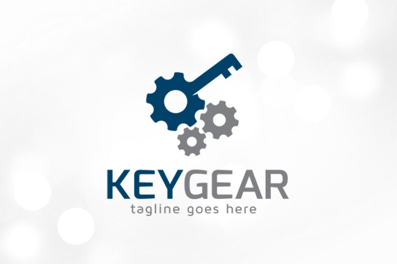 key gear logo template logo templates on creative market