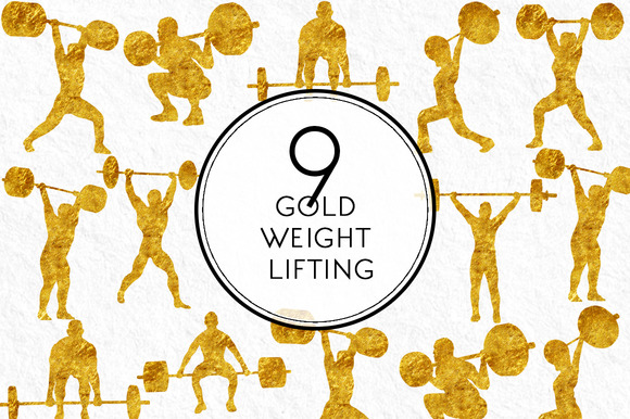 Gold Weight Lifting