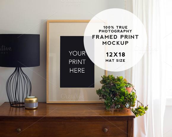 Home Series Framed Print Mockup #1