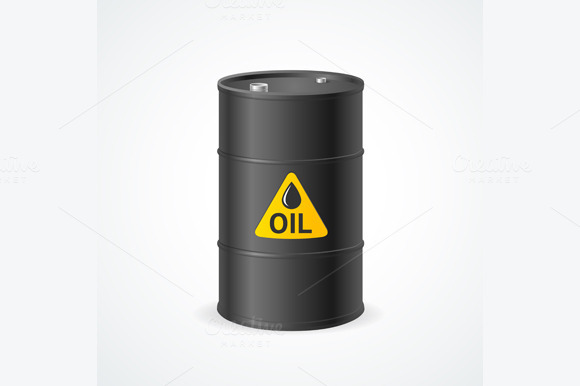 Oil Barrel Drum. Vector - Objects