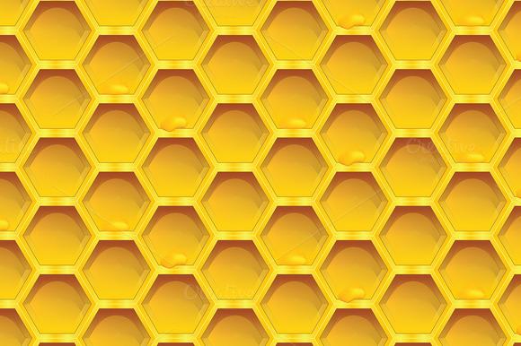 Honeycomb Colorfull Seamless Pattern
