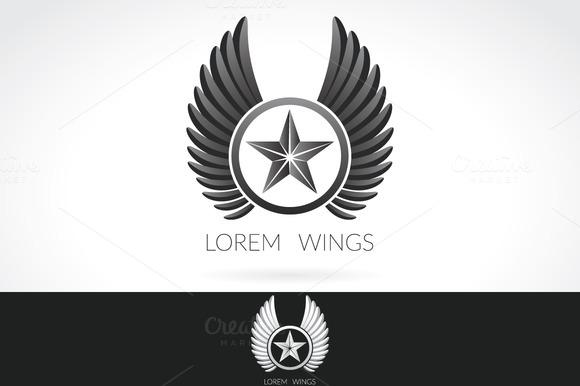 Wing Logo Template Label Emblem