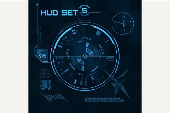 HUD and GUI set. Futuristic UI - Objects