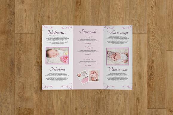 Newborn photography brochure