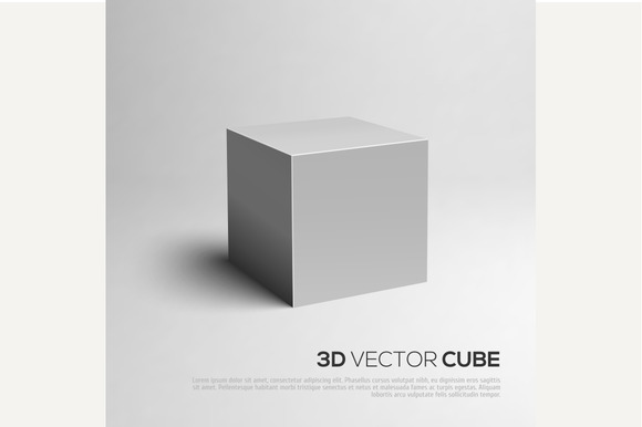 3D Cube. Vector illustration - Objects