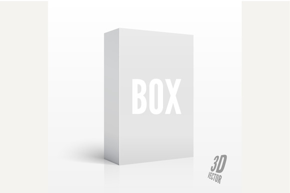 3D Blank Box. Vector illustration - Objects