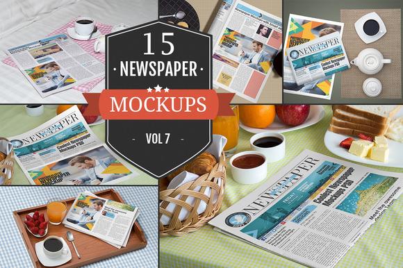 Newspaper Advertising Mockups Vol 7