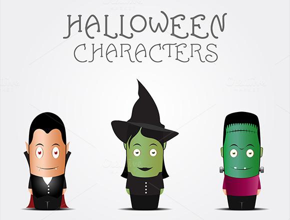 3 Halloween Characters