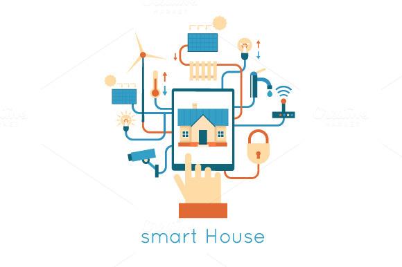 Smart House. Flat design. - Illustrations