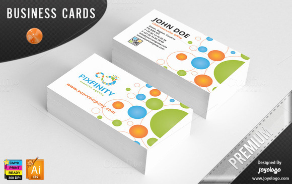 Pixel dots infinity business cards business card for Business card pixels